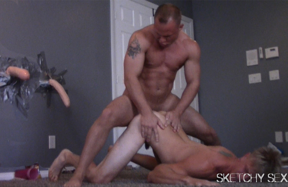 Gay sex cum dump